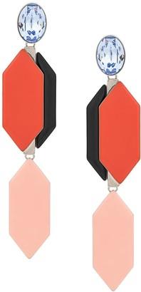Emilio Pucci drop stone earrings