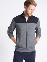 Marks and Spencer Pure Cotton Zipped Through Sweatshirt