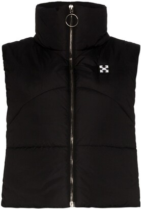Off-White Logo-Appliqued Quilted Gilet