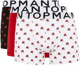 Topman Rose Print Trunks 3 Pack*