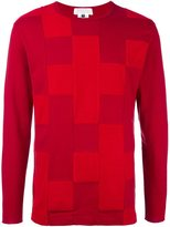 Comme des Garcons patchwork long-sleeved T-shirt - men - Cotton/Polyester - M