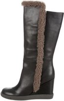 See by Chloe Shearling-Trimmed Ankle Boots w/ Tags