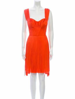 Maria Lucia Hohan Silk Knee-Length Dress Pink