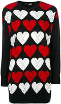 Love Moschino heart patterned jumper
