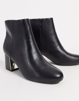 Call it SPRING cete heeled ankle boots in black