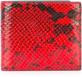 Maison Margiela python-effect wallet - men - Goat Skin - One Size