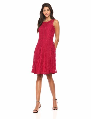 Taylor Dresses Women's Sleeveless lace fit and Flare Dress