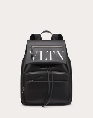 Valentino Garavani Uomo Vltn Calfskin Backpack Man Black/white 100% Pelle Bovina - Bos Taurus OneSize