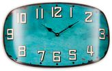Glenna Jean Happy Camper Surf Shot Wall Clock in Teal