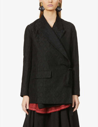UMA WANG Khloe ramie and cotton-blend blazer