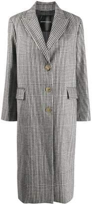 Ermanno Scervino glittered houndstooth coat