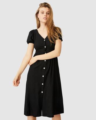 Cotton On Woven Hanna Bell Sleeve Midi Dress