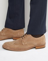 Dune Radcliffe Suede Derby Brogue Shoes
