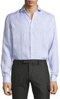 Ralph Lauren Solid Linen Button-Down Shirt, Lavender
