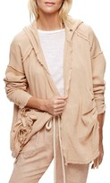 Free People Women's Get Yer Gauze Hooded Cotton Cardigan