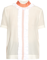 Fendi Ruffled silk crepe de Chine blouse