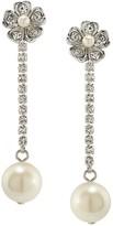 Carolee Linear Flower Drop Earrings