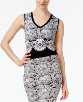 Rachel Roy Jacquard Crop Top, Only at Macy's