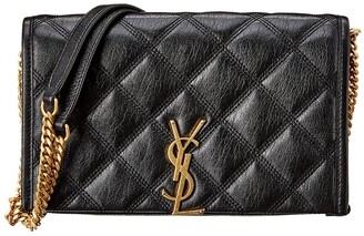Saint Laurent Becky Quilted Leather Wallet On Chain