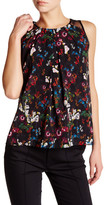 Alice + Olivia Bertha Printed Silk Blend Tank