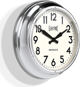 Newgate Clocks - The Large Electric Wall Clock - Chrome