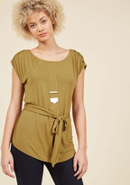 Seen as Sophisticated Top in Moss in 3X