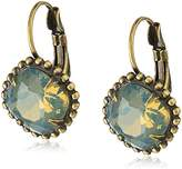 "Sorrelli Washed Pastels"" Cushion Cut Crystal Drop Earrings"