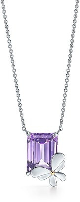 Tiffany & Co. Return to TiffanyTM Love Bugs amethyst butterfly pendant in silver and rose gold