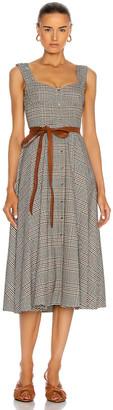STAUD Inda Dress in Glen Plaid | FWRD