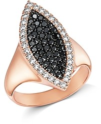 Bloomingdale's Pave Black & White Diamond Ring in 14K Rose Gold - 100% Exclusive
