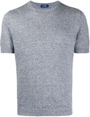 Barba crew neck fine knit T-shirt