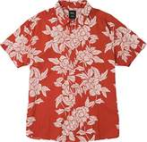 RVCA Men's Bora Short Sleeve Woven Button Down Shirt