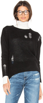 Enza Costa Cashmere Distressed Sweater