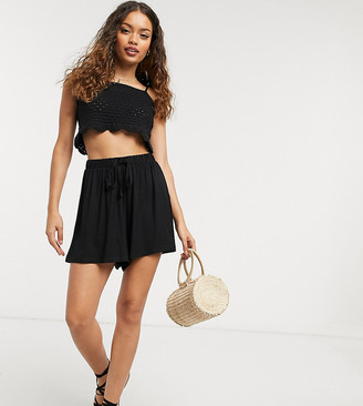 ASOS DESIGN Petite flippy short with drawcord