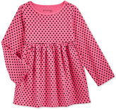 First Impressions Baby Girls' Long-Sleeve Dot-Print Babydoll Tunic, Only at Macy's