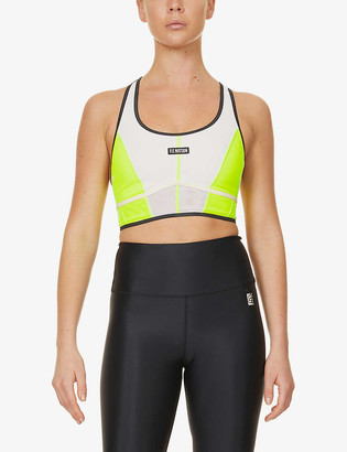 P.E Nation First Position stretch-mesh sports bra