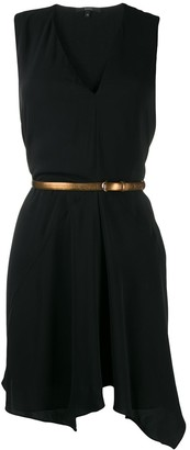 Gucci Pre Owned Asymmetric Sleeveless Dress