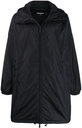 DSQUARED2 Brand Biography Print Rain Coat