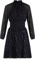 Rebecca Taylor Gathered fil coupé silk-blend dress