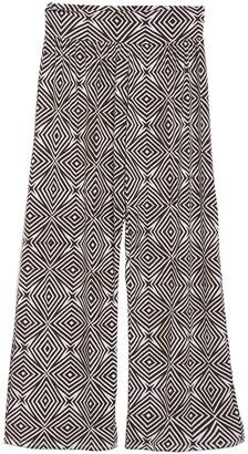 Tahari Geo Print Wide Leg Cover-Up Pants