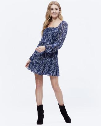 Paige Marjoram Dress-Dark Ink Blue Multi-Durango Fl