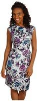 Anne Klein Leaf Floral Sleeveless Dress (Multi) - Apparel