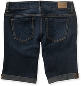 Aeropostale Cuffed Dark Wash Denim Bermuda Shorts