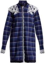 MSGM Lace-embellished cotton shirtdress