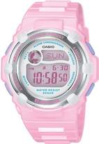 Baby-G Women's Quartz Watch with Pink Dial Digital Display and Pink Resin Strap BG-3000A-4ER