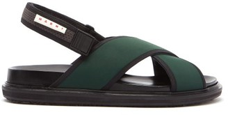 Marni Fussbett Crossover-strap Technical Sandals - Black Green