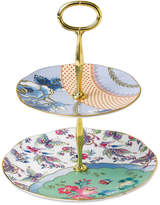 Wedgwood Dinnerware, Butterfly Bloom 2-Tier Cake Stand