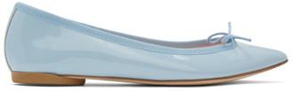Repetto Blue Patent Brigitte Ballerina Flats