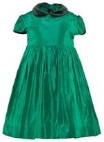 Oscar de la Renta Green Taffeta Gathered Dress
