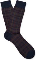 Pantherella - Greenwich Checked Merino Wool-blend Socks